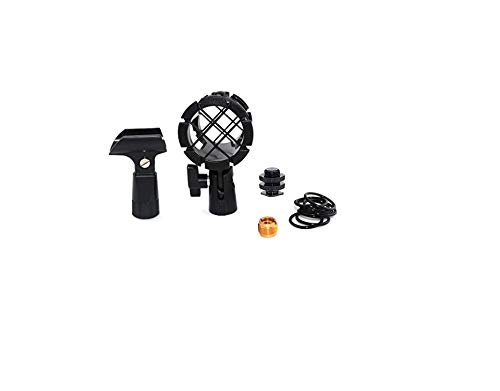 - Foitech(tm) 5-in-1 Kit Camera Microphone Shockmount Holder Clip + Hot Shoe Mount + Small Clip+adapter for AKG D230, Senheisser Me66, Rode Ntg-2,ntg-1,audio-technica At-875r Etc