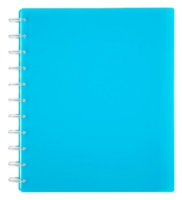 TULTM Custom Note-Taking System Discbound Student Notebook, Letter Size, 3-Subject, Blue