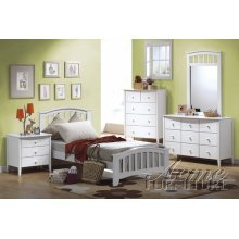 acme San Marino Bed, Twin, White Finish ()
