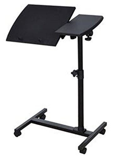Angle Height Adjustable Rolling Laptop Notebook Desk Over Sofa Bed Table Stand TKT-11