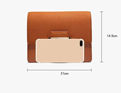 Cuadrado Hombro Hebilla Paquete Retro Simple De Bag Bolso ZCJB Square Para Pequeo Mujer Hombro Ancho Correa Messenger ApOw6xq