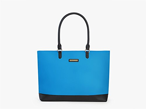 Laptop Microsoft Ladies Tote (Archer Brighton Isabel Women's Laptop & Tablet Zip Tote, Women's 15.6 & 17 Inch Business Computer Briefcase Bag with Crossbody, Leather Canvas Organizer Handbag Purse for Work, Travel (Light Blue))