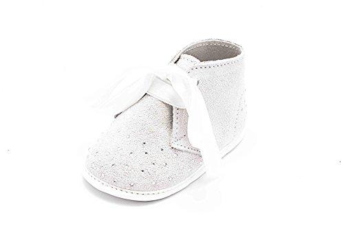 ABA , Baby Mädchen Krabbelschuhe & Puschen weiß Bianco