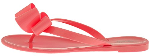 Capelli New York Ladies Floral Pom Opaque Jelly Flip Flops Coral p0HtDa