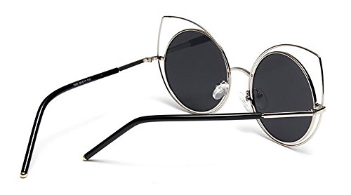de Lennon B en vintage rond polarisées cercle soleil de retro inspirées Frêne lunettes du Noir style métallique Morceau BS8ff6