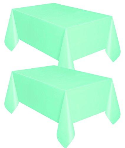 Mint Green Plastic Tablecloths, 54