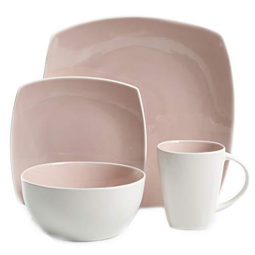 Pink Dinnerware Sets - Gibson Elite Soho Lounge Bright Blush
