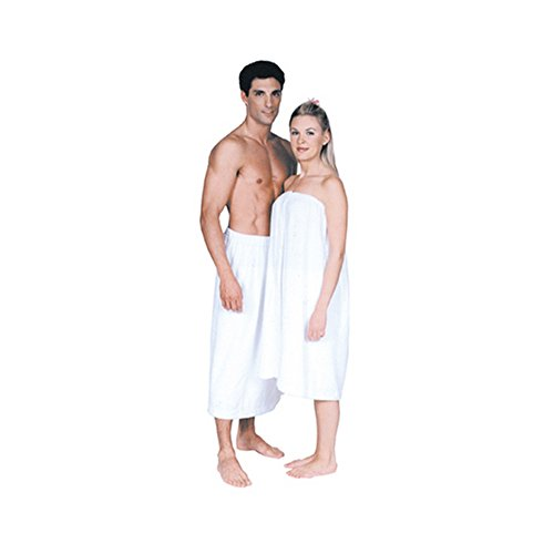 Scalpmaster Terry Cloth Spa Wrap Velcro White One Size Fits All, 31