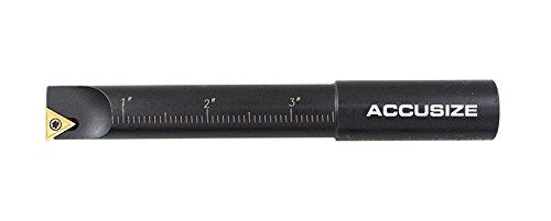 AccusizeTools - 3/4'', .75in Round Shank, 90 Degree, Indexable Boring Bar Set, #2627-9108