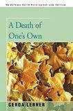 A Death of One's Own, Gerda Lerner, 0671240080