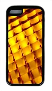 Diy iphone 5 5s case Orange Abstract Pattern Customized Rubber BlackIphone 5 5S By Custom Service Your Perfect Choice