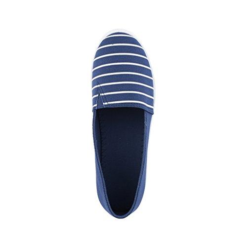 Mujer Zapatillas casa Paris Elara de Dunkelblau qwpfWZx44Y
