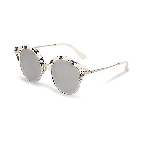 Steve Madden Women's Rylie SM865122 Polarized Sunglasses, Silver/Silver, 53 - Sunglasses Steve Madden Aviator