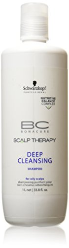 Schwarzkopf 16627300744 BC Scalp Therapy Deep Cleansing Shampoo - For Oily Scalps - 1000ml-33.8oz Schwarzkopf Bonacure Hair Therapy Moisture