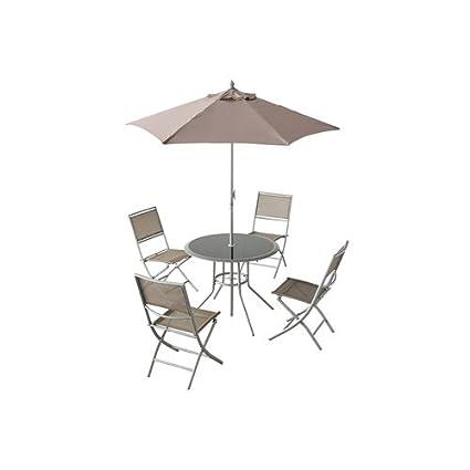 Salon de terrasse Ajaccio - 6 pièces - Taupe: Amazon.fr ...