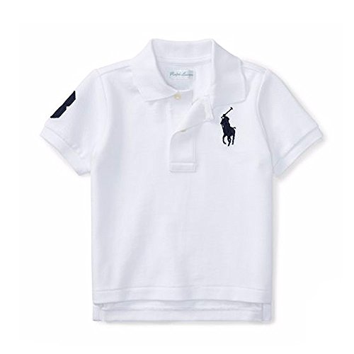Polo Ralph Lauren Baby Boy's Big Pony Short Sleeve Mesh T-Shirt, 18 Months, White
