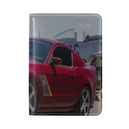 (Mustang Roush Stage 3 Premier Edition 2013 Leather Passport Holder Cover Case Travel One Pocket)