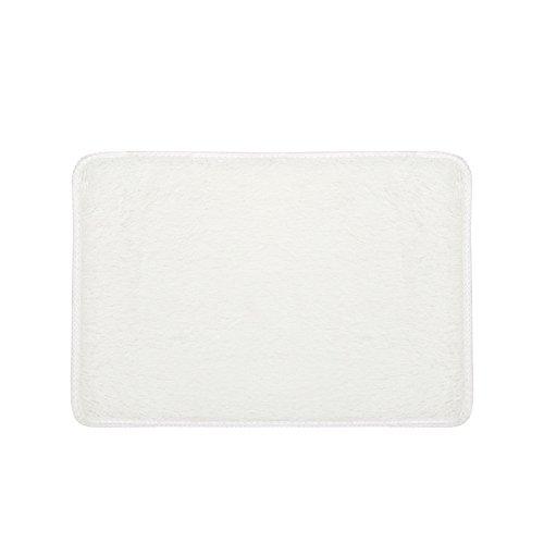 Blue Black Rectangle Rug - Clearance Tuscom Coral Fleece Rectangle Rug Non-Slip Mat for Soft Bath Bedroom Floor Shower,40x60cm Non-Skip,Dust (12colors) (White)