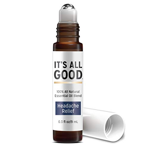 It's All Good Headache Relief Natural Essential Oil | Pure Natural Soothing Therapeutic Grade Aromatherapy for Calming, Relaxation, Pain Relief – 100% Natural, Vegan. Toxin & Cruelty free | 0.3 fl oz