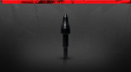 100 Grain Magnum (Black Eagle Executioner/Zombie Slayer Crossbow Bolt Screw In Point - Black - 12 Pack (Field Point, 100 Grain))
