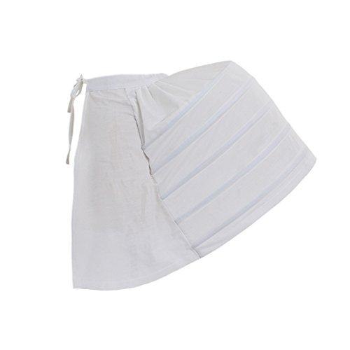 DUNHAO COS Women's White Crinoline pannier Victorian Dress Bustle Underskirt Dress Victorian Crinoline