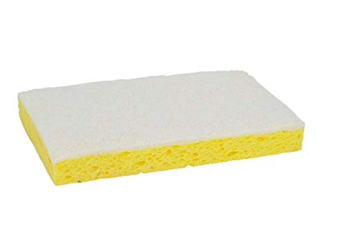 "Scotch-Brite 63 Light Duty Scrub Sponge, 6-3/32"" Length x 3-19/32"" Width x 11/16"" Thick (Case of 20)"
