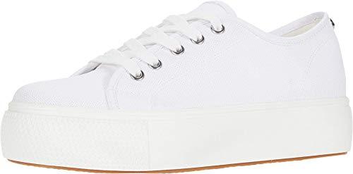 Steve Madden Women's Elore Sneaker, White , 6.5 M US