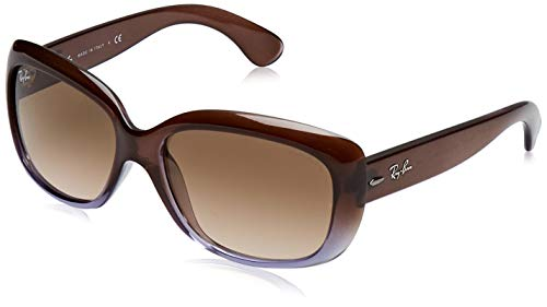 Ray-BanWomen's RB4101 Jackie Ohh Sunglasses, Brown Gradient Lilac/Brown Gradient, 58 -