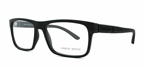 Giorgio Armani - AR 7042, Wayfarer, propionate, men, BLACK RUBBER(5063), - Eyewear Luxottica