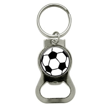 Graphics and More Soccer Ball Bottle Cap Opener Keychain (KB0027)