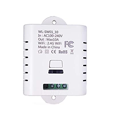 Jiaxijieke SW1_16W SW1_10W WiFi Wireless Switch Remote Control Ewelink Automation Relay Module for iPhone Android Smartphones 10A 16A