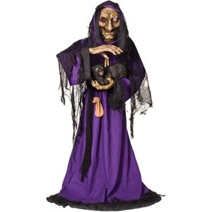 halloween decorations 55 tall matilda the animated witch - Halloween Witch Decoration
