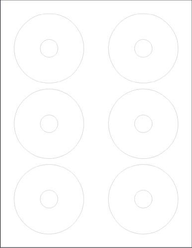 - Glossy Finish 3-Inch Mini 6-Up CD Labels 300-Pak (50 sheets)