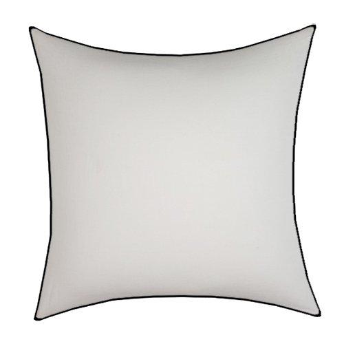 Sublimación borde negro y blanco funda de almohada 43 cm x ...