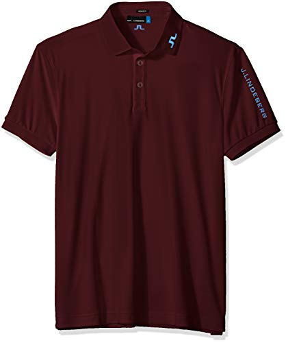 J.Lindeberg Men's Tour Tech Tx Jersey Polo Shirt, red, for sale  Delivered anywhere in USA