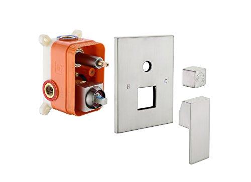 Nickel Shower Mixer Valve Control Shower Faucet ()