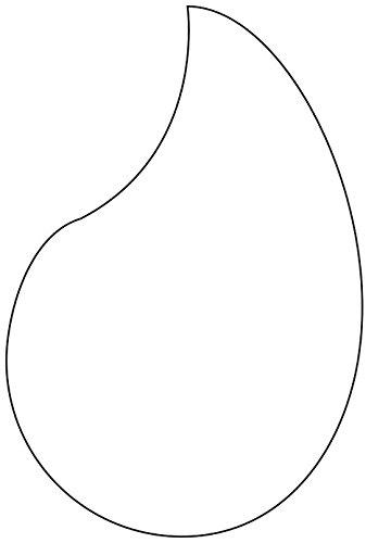 Martellato plástico Mono Coma molde cortador, 65 x 40 mm, crema, 30 x