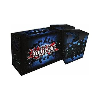 Konami Yugioh Card Game Storage Blue Dual Double Deck Box