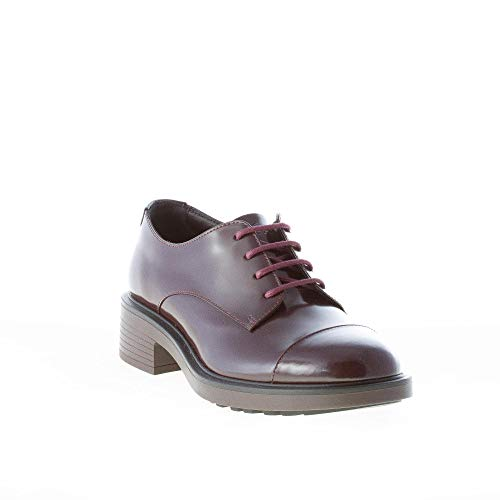 3 Donna Tacco Pelle H332 Hogan Stringata Derby Bordeaux cm Spazzolata in Bordeaux 5 zwqn6H8nd