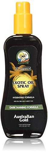 Australian Gold Dark Tanning Exotic Oil Spray, Carrot Extract Formula, 8 Ounce (Best Outdoor Tanning Spray)
