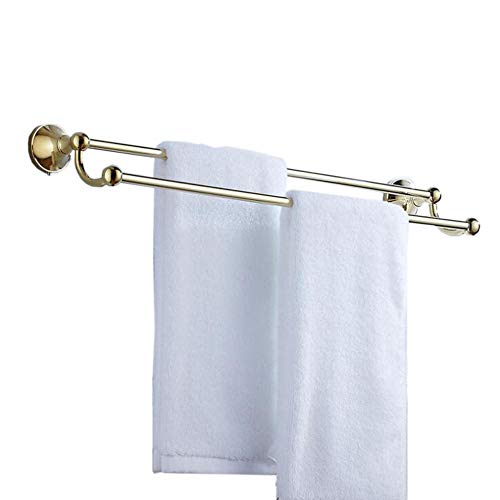 Double Towel Bar Polished Brass - AQJD Solid Brass Double Towel