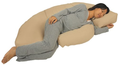 Leachco Body Bumper Contoured Body Pillow System, Khaki by Leachco