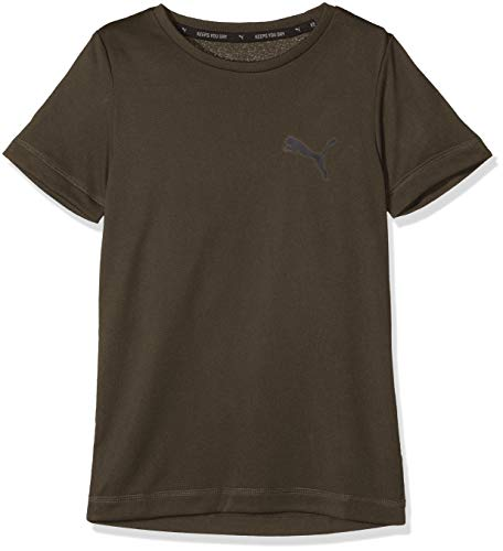 Marron Puma Garçon B T Active shirt Tee nwCSw6qrY