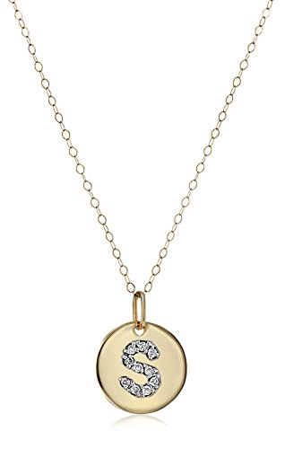 Personalized Initial S Heart Chain Locket Necklace
