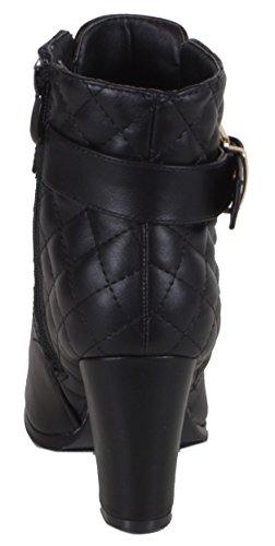 Trendboutique top Hi Steppmuster Femme Sneakers Noir Schwarz A6rnPAvq