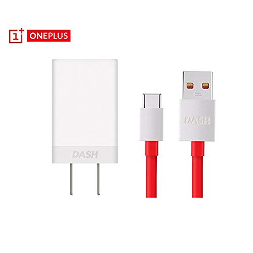 OnePlus Dash Charger and Type C USB Cable,Oneplus 6 5t 5 AC Adapter Wall Charger Dash Charger and Cable for OnePlus A6000, OnePlus 3T, OnePlus 5 (Charger+Cable)