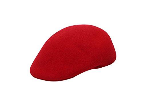 Béret Chaud En Acvip Automne Fille Mode Bonnet Rouge Hiver Chapeau amp; Pour Femme Feutre Casquette Laine Elégant wvXTTxnFH