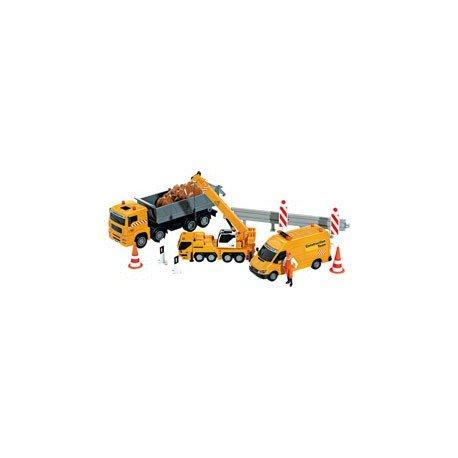 giochi preziosi rdf50715 motori & co. - set road team veicoli da cantiere