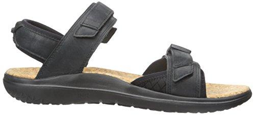 Teva Heren Terra-float Universeel Luxe Lederen Sandaal Zwart