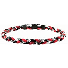 """NEW! 18"""" Kids Size Red White & Black Tornado Necklace With Case"""